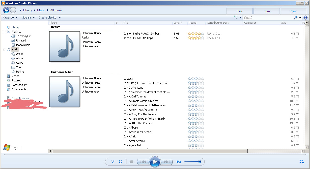 Windows Media Player and File Explorer show mp3s as
